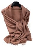 Brown scarf. Beautifull brown scarf isolated on white background Royalty Free Stock Images