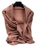 Brown scarf. Beautifull brown scarf isolated on white background Stock Photography