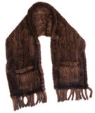 Brown Scarf. Made of fur royalty free stock image