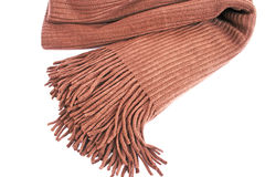 Brown scarf. On white background Royalty Free Stock Photo