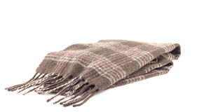 Brown scarf. On a white background Stock Image
