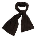Brown scarf on white background Royalty Free Stock Images