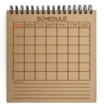 Brown schedule notebook Royalty Free Stock Photography