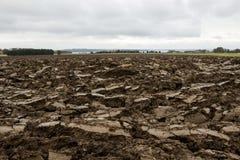 Brown-Schmutz-Feld für die Landwirtschaft Lizenzfreies Stockbild