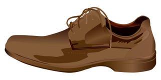 Brown-Schuh getrennt auf Weiß Stockfotografie