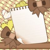 Brown scrapbook page Stock Image