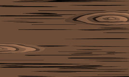Brown scratched wooden cutting board Stock Images