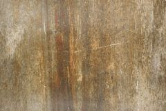 Brown scratched wooden cutting board. Wood texture. Abstract background. Copy space. Royalty Free Stock Photography