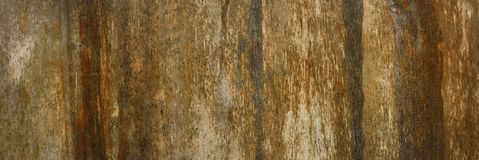 Brown scratched wooden cutting board. Wood texture. Abstract background. Copy space. Stock Photography