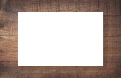 Brown scratched wooden frame, billboard or white horizontal rectangle Royalty Free Stock Photo