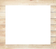 Brown scratched wooden frame, billboard or white horizontal rectangle with planks Royalty Free Stock Photography