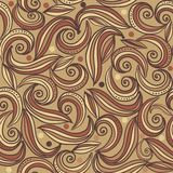 Brown seamless abstract pattern Stock Photos