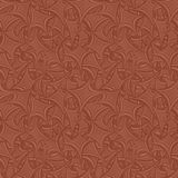 Brown seamless curved background. Brown seamless curved rectangle pattern background Stock Photo