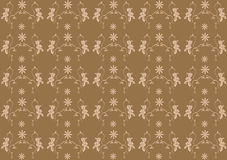 Brown seamless flower damask background Stock Photography