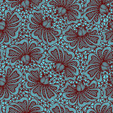 Brown seamless flower lace pattern Royalty Free Stock Images