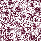 Brown seamless flower pattern Stock Photo
