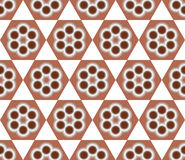 Brown Seamless Flower Pattern Background Royalty Free Stock Images