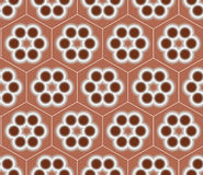 Brown Seamless Flower Pattern Background  Vector Design Royalty Free Stock Photography