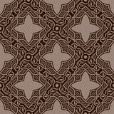 Brown seamless ornament Royalty Free Stock Image