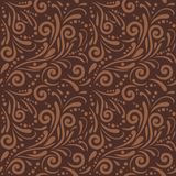 Brown seamless ornamental pattern for design Stock Images