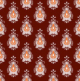 Brown seamless paisley background Royalty Free Stock Photos