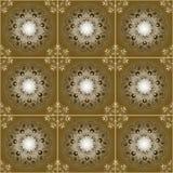 Brown seamless pattern Stock Image