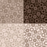 Brown seamless pattern Royalty Free Stock Photography
