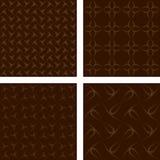 Brown seamless pattern background set. Brown seamless curved line pattern background set Stock Photo