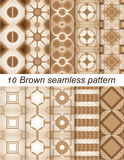 Brown seamless pattern. Illustration of brown seamless pattern.10 design Royalty Free Stock Photos