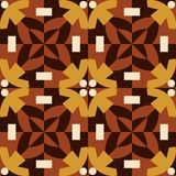 Brown seamless pattern made from man figures. Royalty Free Stock Photo