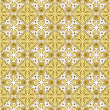 Brown seamless pattern with mandalas Royalty Free Stock Photos