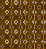 Brown, seamless pattern, squares, stripes, geometric, multi-color. Royalty Free Stock Images