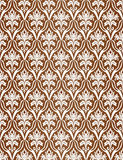 Brown seamless a pattern. Vector illustration Stock Photos