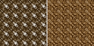 Brown seamless patterns Royalty Free Stock Photography