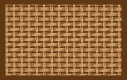 Brown seamless texture of intertwined strings. Royalty Free Stock Images