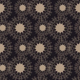 Brown Seamless Tile with Abstract Flowers Royalty Free Stock Photo