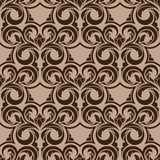 Brown seamless wallpaper Royalty Free Stock Photography