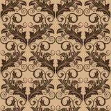 Brown seamless wallpaper Stock Photo