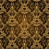 Brown seamless wallpaper Stock Photography