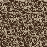 Brown seamless wallpaper. For design Stock Photos