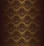 Brown seamless wallpaper. Stock Image