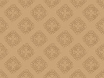 Brown seamless wallpaper pattern Royalty Free Stock Photos