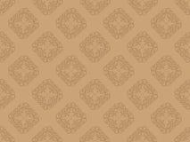 Free Brown Seamless Wallpaper Pattern Royalty Free Stock Photos - 18261208