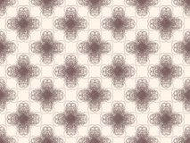 Brown seamless wallpaper pattern Stock Photos