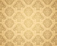 Brown Seamless wallpaper pattern. Computer illustration, isolated on the white Royalty Free Stock Photos
