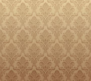 Brown seamless wallpaper pattern Stock Images