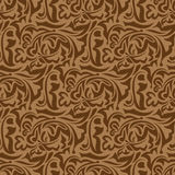 Brown seamless wallpaper pattern Royalty Free Stock Photography