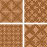 Brown seamless wallpaper set Royalty Free Stock Photo
