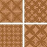 Brown seamless wallpaper set. Brown seamless pattern wallpaper set Royalty Free Stock Photo