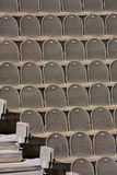 Brown seats. In the amphitheatre Royalty Free Stock Photo